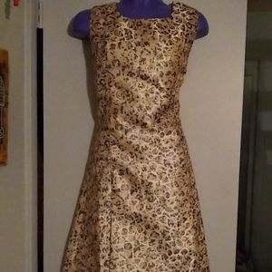 Esley cheetah rose gold, metallic sheen sz M NWOT